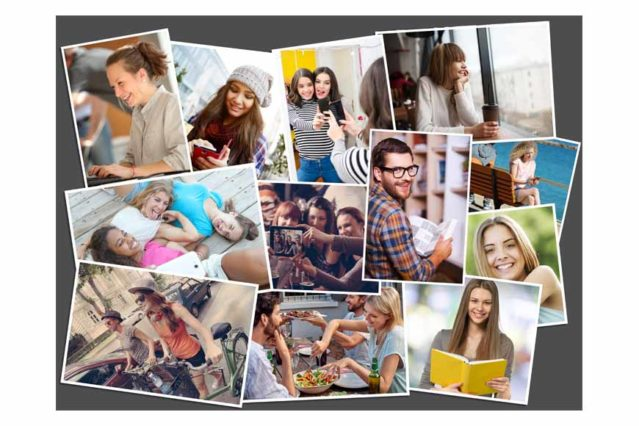 A partir deuna recopilación de fotos de amistades o familiares puedes crear un foto collage desordenado per muy atractivo.