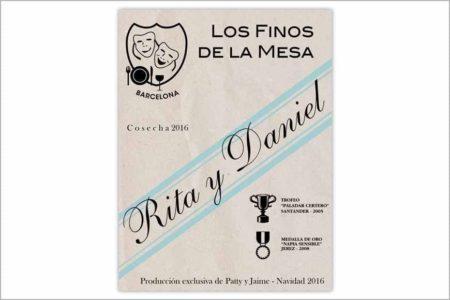 Etiqueta de vino Ribera