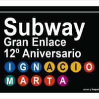 Placa Subway personalizada
