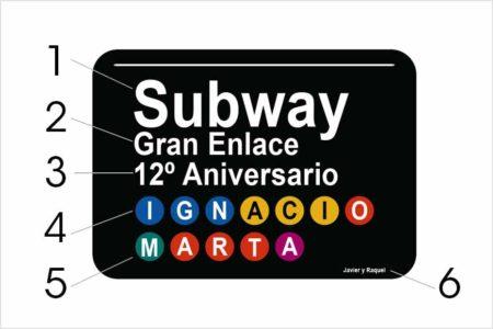 Personalizacion placa subway