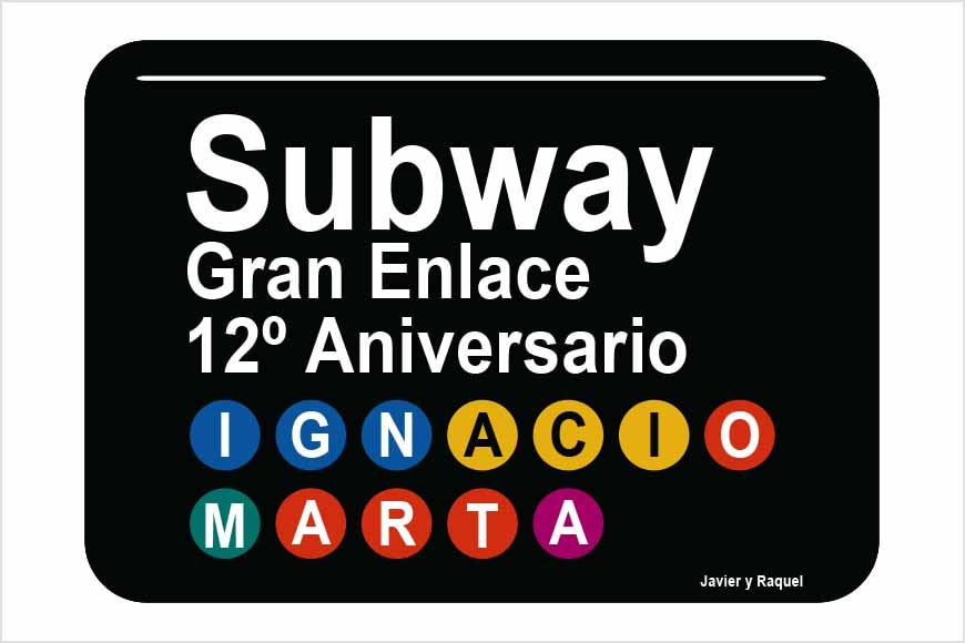 Placa Subway personalizada