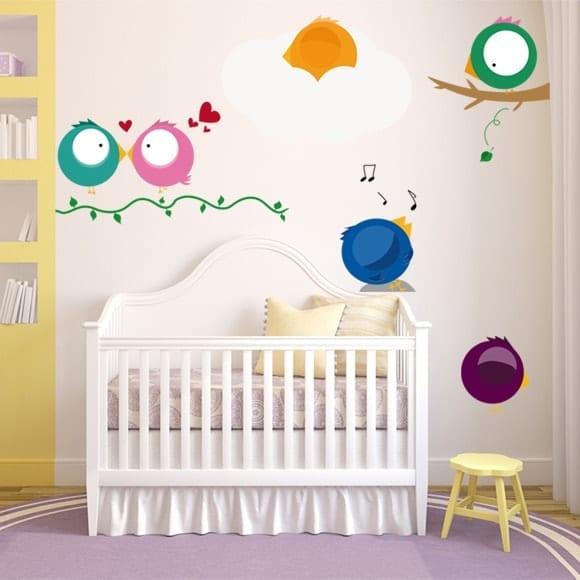 Pack vinilo pajarito vinilos habitaci n beb vinilos - Vinilos decorativos habitacion ...