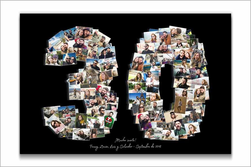 Collage números