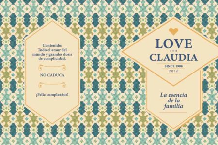 Lata XS Romántica - Fondo motivo