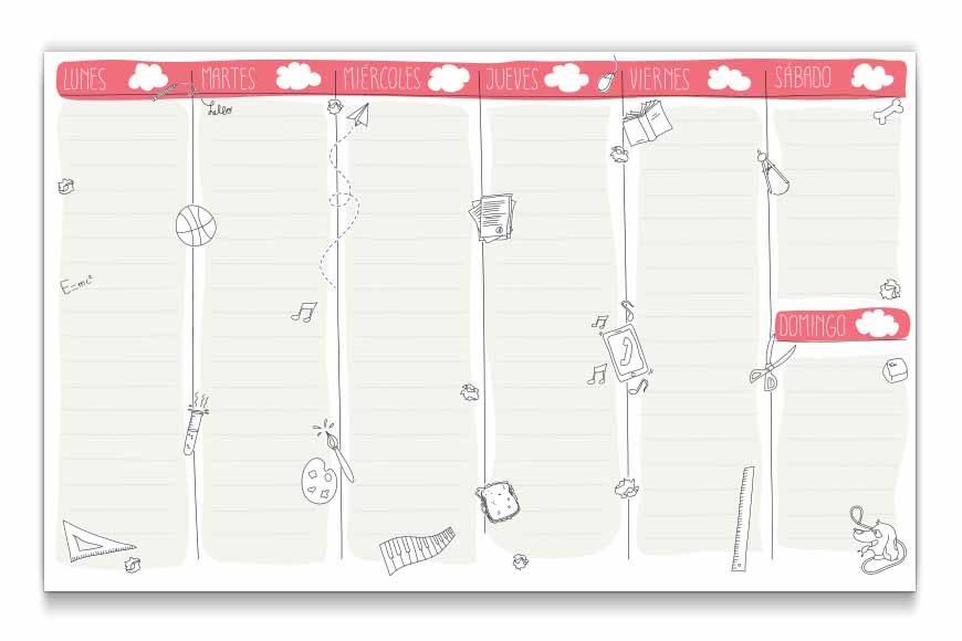 Planning infantil semanal