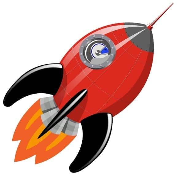 vinilo cohete y planetas