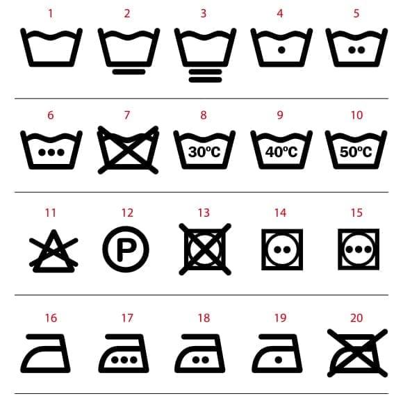 Vinilo símbolos lavado