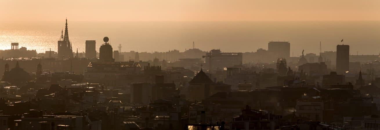 fotografia de depertar de Barcelona para la decoración de oficinas o viviendas