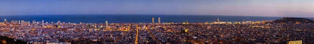 Skyline Barcelona foto 2. Decoración con fotos