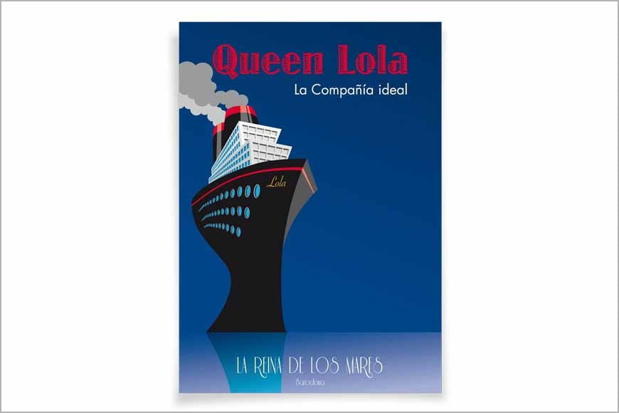 """Póster crucero """"Queen"""""""