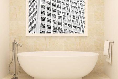 Baño con ventanas