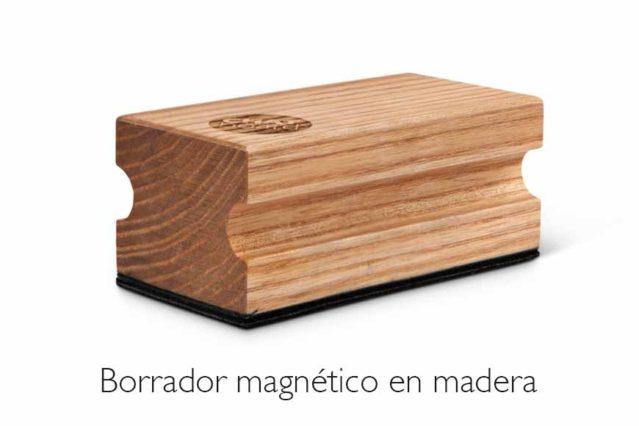 Borrador magnético madera
