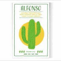 Cactus con frase