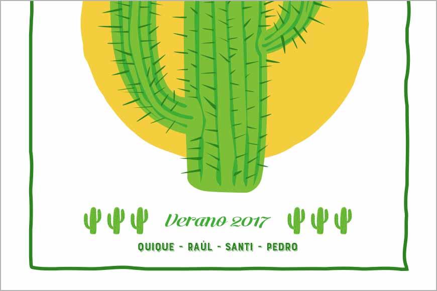 Cactus con frase superior