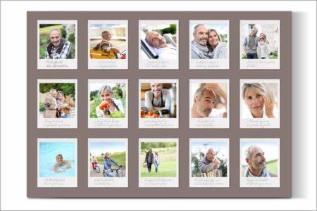 Un foto collage para contar una historia a través de tus fotos convertidas en fotos tipo polaroid