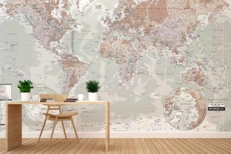 Mapamundi 1 mural
