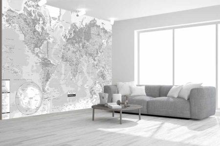Mapamundi 4 mural