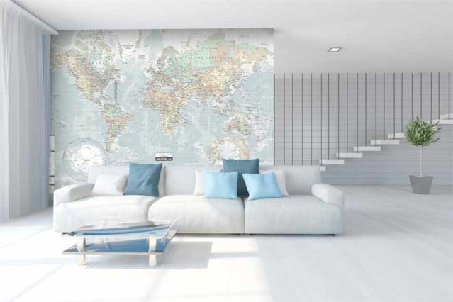 Mapamundi 5 mural