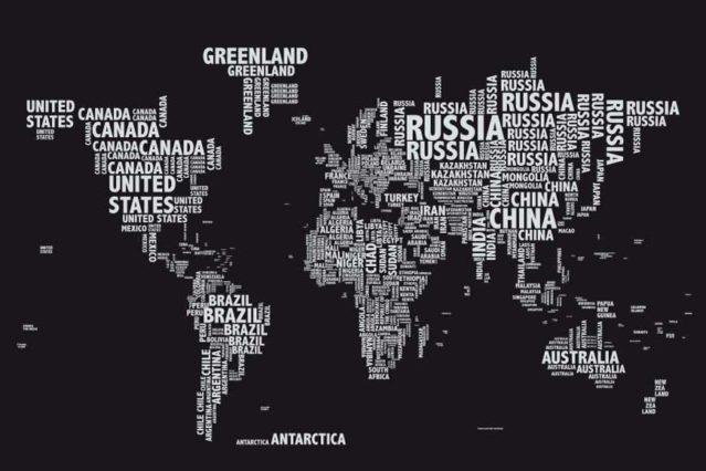 Mapa tipográfico mural