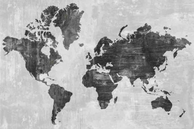 Mapamundi texturizado sin fronteras 1