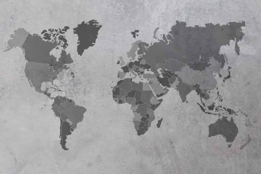 Mapamundi texturizado 3 con fronteras