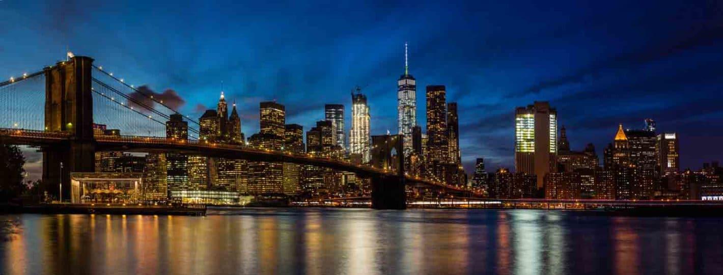 Fotografía espectacular del skyline de Nueva York al anochecer para decorar cualquier ambiente
