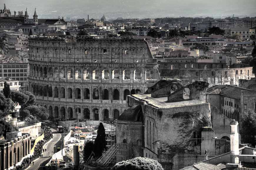 Roma y el Coliseo