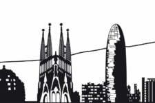 Vinilo skyline de Barcelona