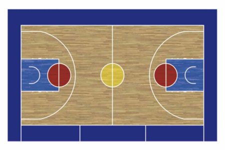 Pizarra velleda cancha de basket