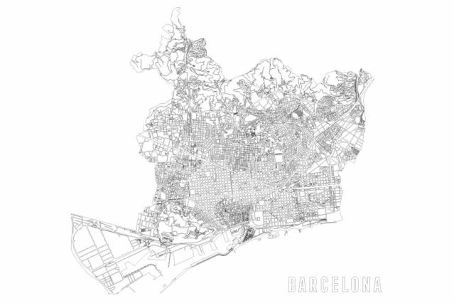 Plano lineal de Barcelona