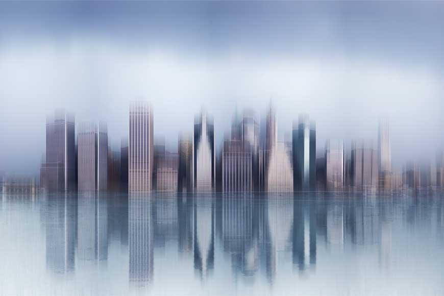 Skyline onírico de Manhattan