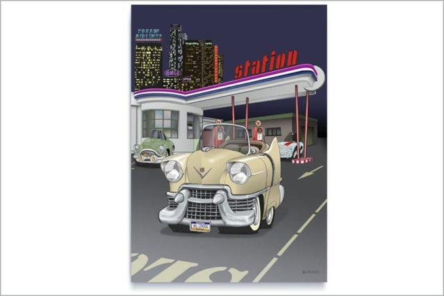Escena con un Cadillac