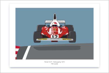 Póster del Ferrari 312T