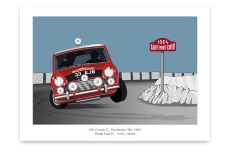 Póster del Mini Cooper S en Montecarlo