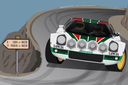 Póster del Lancia Stratos HF de Munari