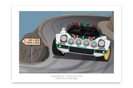 Póster del Lancia Stratos HF