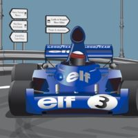 Póster del Tyrrell 006 en Montjuïc