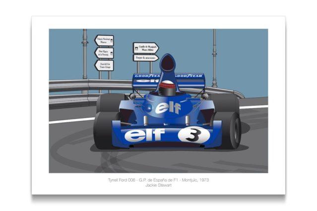 Tyrrell 006 en Montjuïc
