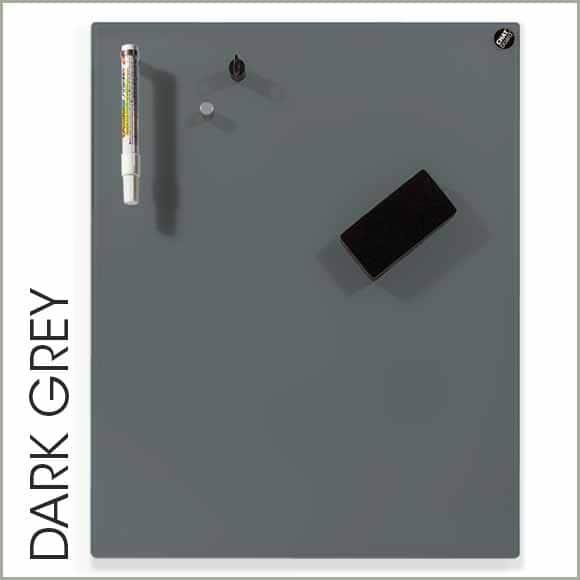 pizarra de cristal gris oscuro