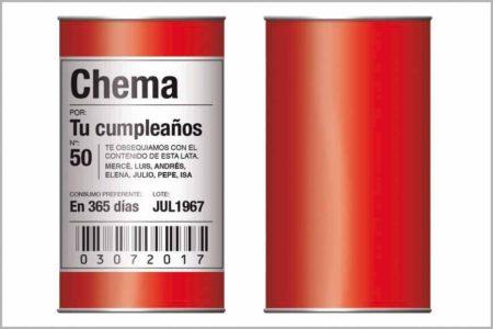 Lata XS Embalaje-Fondo color