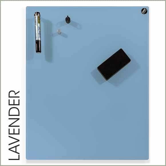 pizarra de cristal azul lavanda