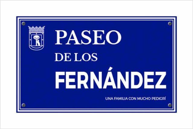 Placa de calle de Madrid