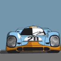 Póster del Porsche 917 en Le Mans
