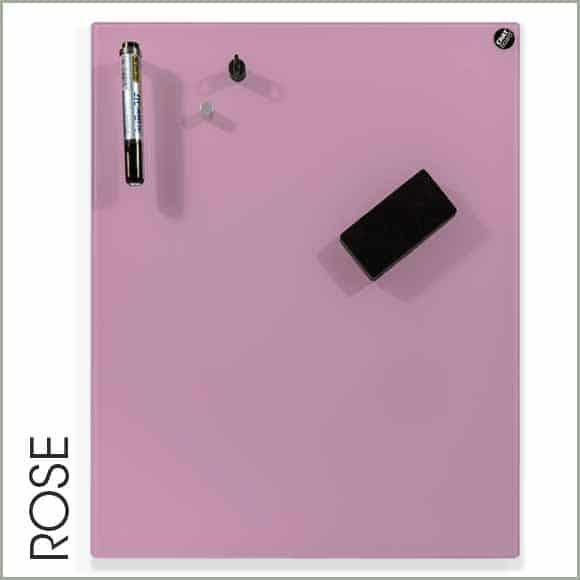 pizarra de cristal rosa
