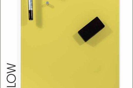 pizarra de cristal amarilla