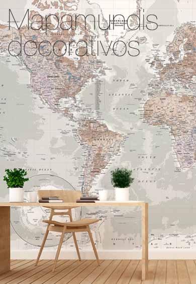 Mapamundi para pared