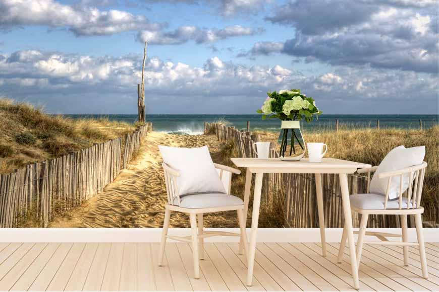 Fotomural decorativo con la imagen de un camino a la playa