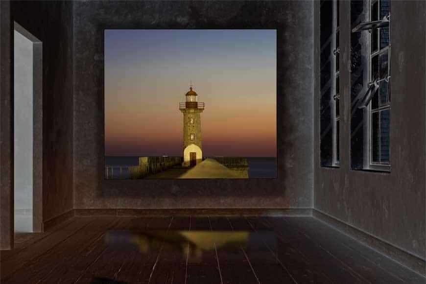 Foto en caja de luz