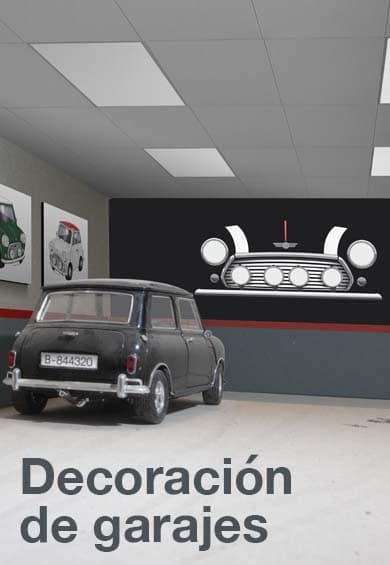Vinilos de coches para decorar las paredes de tu garaje