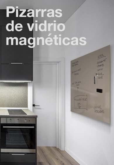 Pizarras de cristal magnéticas para escribir y poner imanes